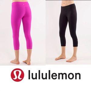 Lululemon Wunder Under 🌟REVERSIBLE Crop Size 6